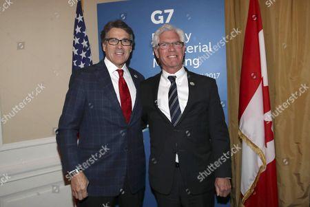 Stock Photo of Carlo Calenda and James Gordon Carr