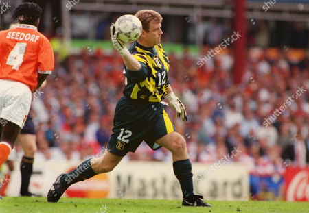 Football : Euro Championships 1996 Scotland v Holland (Netherlands). Andy Goram - Scotland