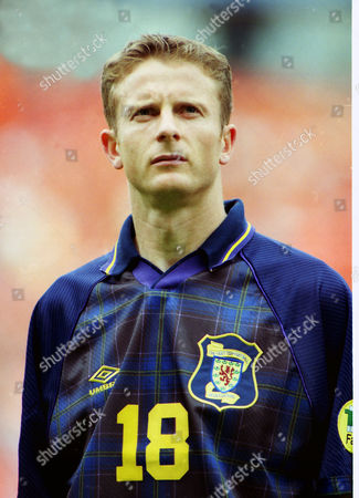 Football : Euro Championships 1996 Scotland v Holland (Netherlands). Kevin Gallacher - Scotland
