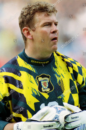Football - 1996 Euro Championships. Scotland v Switzerland. Villa Park, . Andy Goram - Scotland
