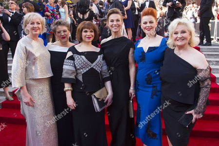 Stock Image of Claire Moore, Claire Machin, Debbie Chazen, Joanna Riding, Sophie-Louise Dann and Michele Dotrice