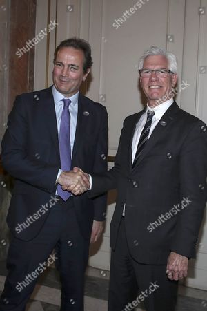 Nick Hurd, Minister of State for Climate Change for England, and James Gordon Carr, Minister of Natural Resources for Canada.