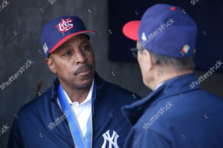 Former New York Yankee Willie Randolph before the baseball game between the New York Yankees and the Tampa Bay Rays at Yankee Stadium, in New York