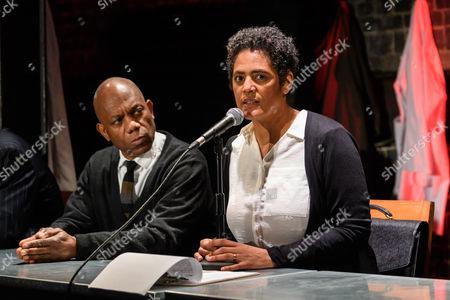 Burt Caesar (Grand), Sara Powell (Dr Rieux)