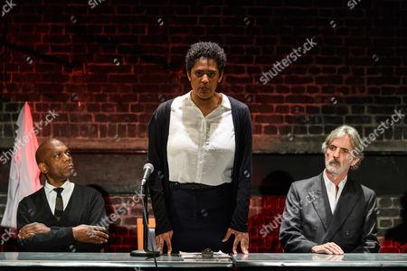 Burt Caesar (Grand), Sara Powell (Dr Rieux), Martin Turner (Mr Tarrou)