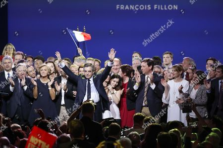 Editorial picture of Francois Fillon campaign rally, Paris, France - 09 Apr 2017