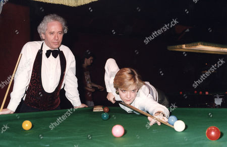 Allison Fisher, Jeff Powell Professional Snooker Player with Daily Mail Chief Sports Writer