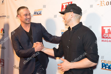 Stock Image of Taylor Kinney and Rockit Ranch owner Billy Dec