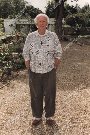 Frank Bough Television / Radio Presenter pictured outside his Dornay Reach home amid rumours of his sex involvement in a second sex scandal