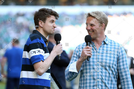 Greg James and Lewis Moody warm up the crowd