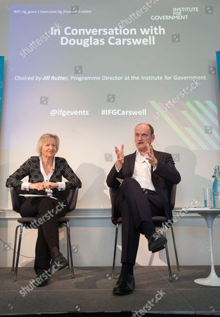 Douglas Carswell, MP for Clacton on Sea in conversation with Jill Rutter at the Institute for Government