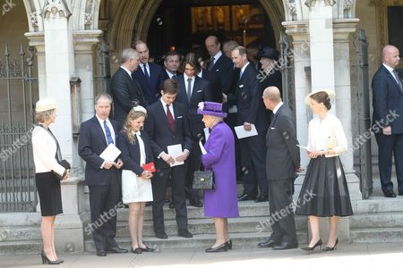 Serena Armstrong-Jones, David Armstrong-Jones, Margarita Armstrong-Jones, Charles Armstrong-Jones, Queen Elizabeth II, Prince Philip, Lady Sarah Chatto