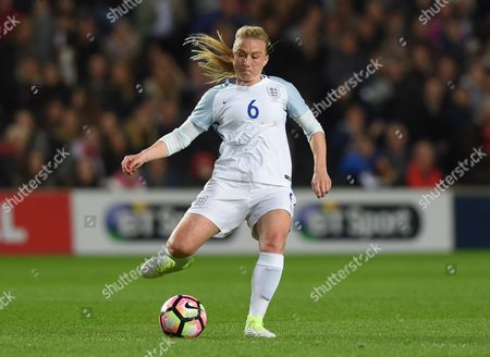 Laura Bassett of England during the Womens International friendly match between England and Austria played at Stadium MK, Milton Keynes on 10th April 2017