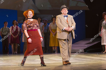 Susan Kyd (Mrs Mullin) and Martyn Ellis (Mr Bascombe) during the curtain call