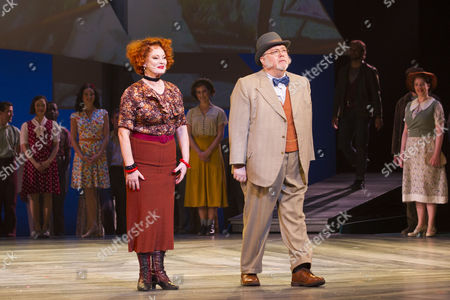 Stock Image of Susan Kyd (Mrs Mullin) and Martyn Ellis (Mr Bascombe) during the curtain call