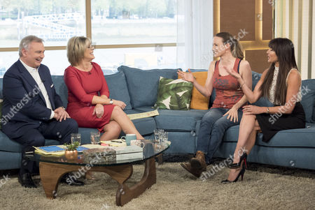 Eamonn Holmes and Ruth Langsford with Kate Smurthwaite and Lizzie Cundy