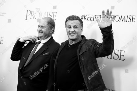 Mike Medavoy and Sylvester Stallone