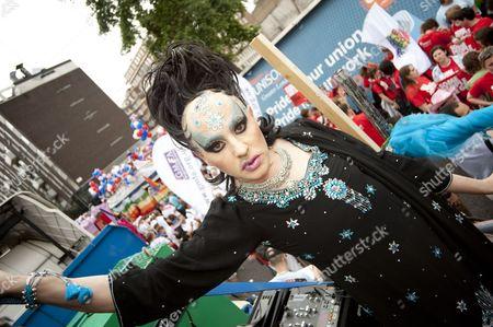 Festival, Gay Pride, Gay Scene, LGBT, London, London Pride, Tasty Tim, Trannyshack, UK, celebration, demonstration, drag queen, gay event, parade, pride london
