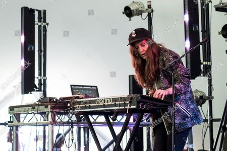 Stock Photo of East London, Field Day, Jessy Lanza, London, Music Festival, UK, Victoria Park, cap, dj, female, festival, festival goers, festivalgoers, music, summer