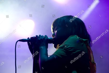 Stock Photo of Barcelona, Festival, Indie, Nancy Whang, Parc del Forum, Summercase, The Juan MacLean, american, dance punk, disco house, electronica, female, singer, summer, vocals