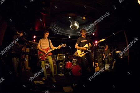 Stock Photo of Andy Rourke, Mike Joyce, The Luminaire, The Smiths drummer, Vinny Peculiar, singer