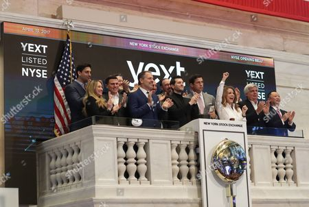 Editorial image of Trading at the New York Stock Exchange NYSE, USA - 13 Apr 2017