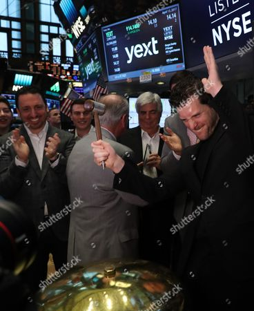 Editorial photo of Trading at the New York Stock Exchange NYSE, USA - 13 Apr 2017