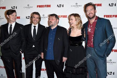 Sam Riley, Sharlto Copley, Ben Wheatley, Brie Larson and Armie Hammer