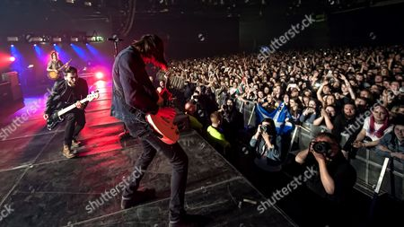 You Me At Six - Max Helyer, Chris Miller, Matt Barnes (Photo -taken by taken by Lead singer Josh Franceschi)