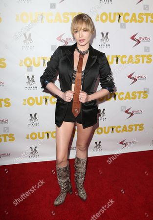 Editorial photo of 'The Outcasts' TV show premiere, Los Angeles, USA - 13 Apr 2017