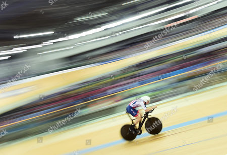 Stock Picture of Andy Tennant of Great Britain competes in the Men's Individual Pursuit Qualifying.