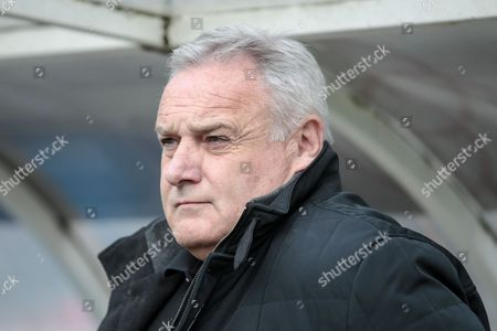Dave Jones (Manager) (Hartlepool United) in the dugout during the EFL Sky Bet League 2 match between Hartlepool United and Carlisle United at Victoria Park, Hartlepool