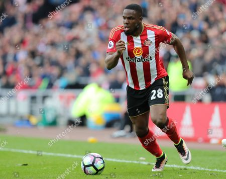 Victor Anichebe of Sunderland   during the Premier League match between Sunderland and  West Ham Unitedc played at the Stadium of Light , Sunderland on 15th April 2017