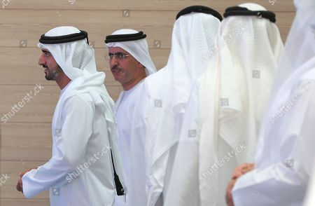 Sheikh Hamdan bin Mohammed bin Rashid Al Maktoum, Crown Prince of Dubai and Chairman of the Dubai Executive Council, arrives for the launch of the Smart Dubai 2021 initiative which aims to end paper transactions by 2021, in Dubai, United Arab Emirates
