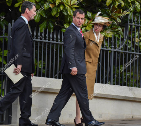 Vice Admiral Timothy Laurence, Peter Phillips and Anne, Princess Royal