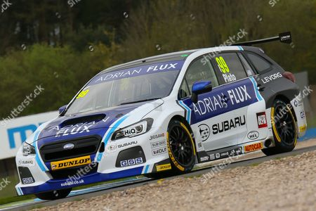 #99 Adrian Flux Subaru Racing - Subaru Levorg GT driver, Jason Plato during the British Touring Car Championship at Donington Park, Castle Donington