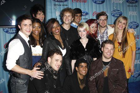 American Idol Top 13: Adam Lambert, Alexis Grace, Allison Iraheta, Anoop Desai, Danny Gokey, Jasmine Murray, Jorge Nunez, Kris Allen, Lil Rounds, Matt Giraud, Megan Corkrey, Michael Sarver