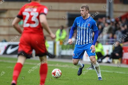 Scott Harrison of Hartlepool United during the EFL Sky Bet League 2 match between Leyton Orient and Hartlepool United at the Matchroom Stadium, London