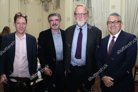 Paul Holdengraber, Tom Freston, Jonathan Taplin and Jeffrey Toobin