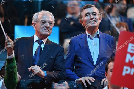 Editorial picture of Celebrities attend Emmanuel Macron campaign rally, Paris France - 17 Apr 2017