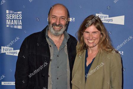 Stock Picture of Cedric Klapisch and his companion Lola Doillon
