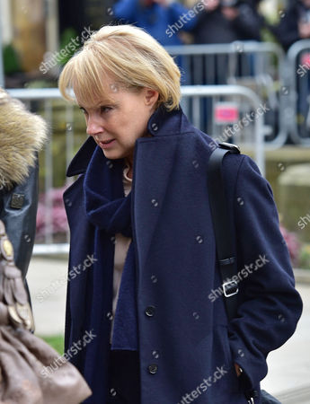 Funeral Of Coronation St. Creator Tony Warren At Manchester Cathedral. - Sally Dynevor Makes Her Way To The Service.