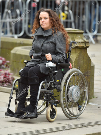 Funeral Of Coronation St. Creator Tony Warren At Manchester Cathedral. - Disabled Actress Cherylee Houston Attends The Service.