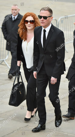Funeral Of Coronation St. Creator Tony Warren At Manchester Cathedral. - Antony Cotton And Jennie Mcalpine Attend The Service.