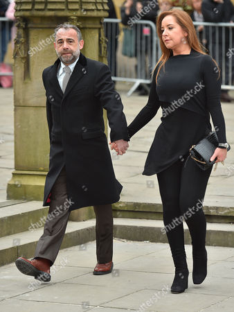 Funeral Of Coronation St. Creator Tony Warren At Manchester Cathedral. Michael Le Vell And Partner Make Their Way To The Service.