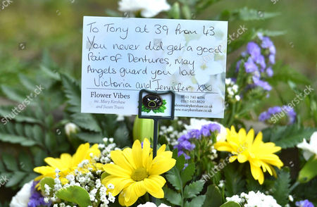 Funeral Of Coronation St. Creator Tony Warren At Manchester Cathedral. - Floral Tributes.