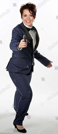 Editorial picture of Olivia Colman As Jane Bond.