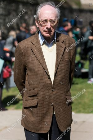 Stock Photo of Former Conservative Defence Secretary Sir Malcolm Rifkind is interviewed by the media in Westminister after the British Prime Minister declared a general election for June 8th