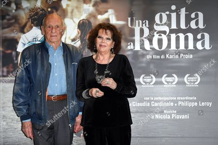 Stock Picture of Philippe Leroy, Claudia Cardinale
