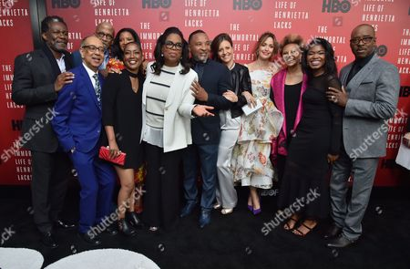 John Douglas Thompson, George C Wolfe, Reg E. Cathey, Renee Elise Goldsberry, Jeri Lacks Whye, Oprah Winfrey, Alfred Carter Jr, Rebecca Skloot, Rose Byrne, Leslie Uggams, Kyanna Simone and Courtney B Vance